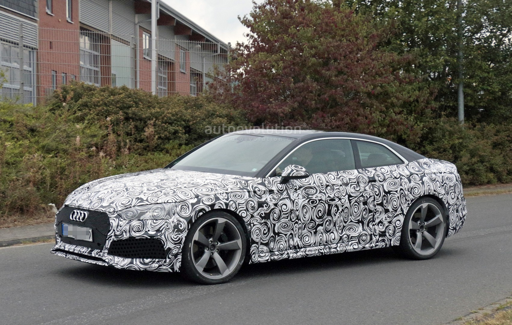 2018 audi rs5 coupe spied with production body for the first time autoevolution. Black Bedroom Furniture Sets. Home Design Ideas