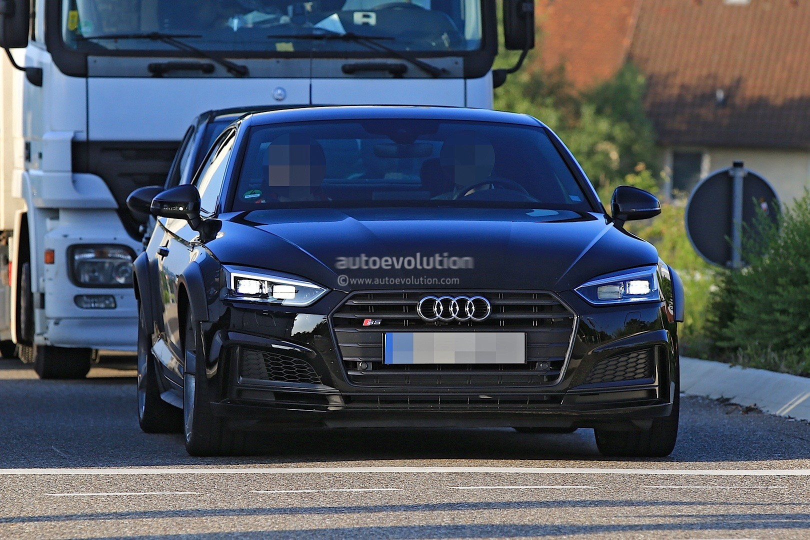 2018 audi rs5 coupe test mule camouflaged as audi s5 coupe