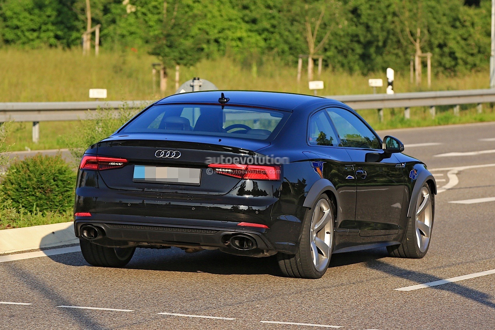 2018 Audi Rs5 Coupe Test Mule Spied In Audi S5 Coupe Overalls