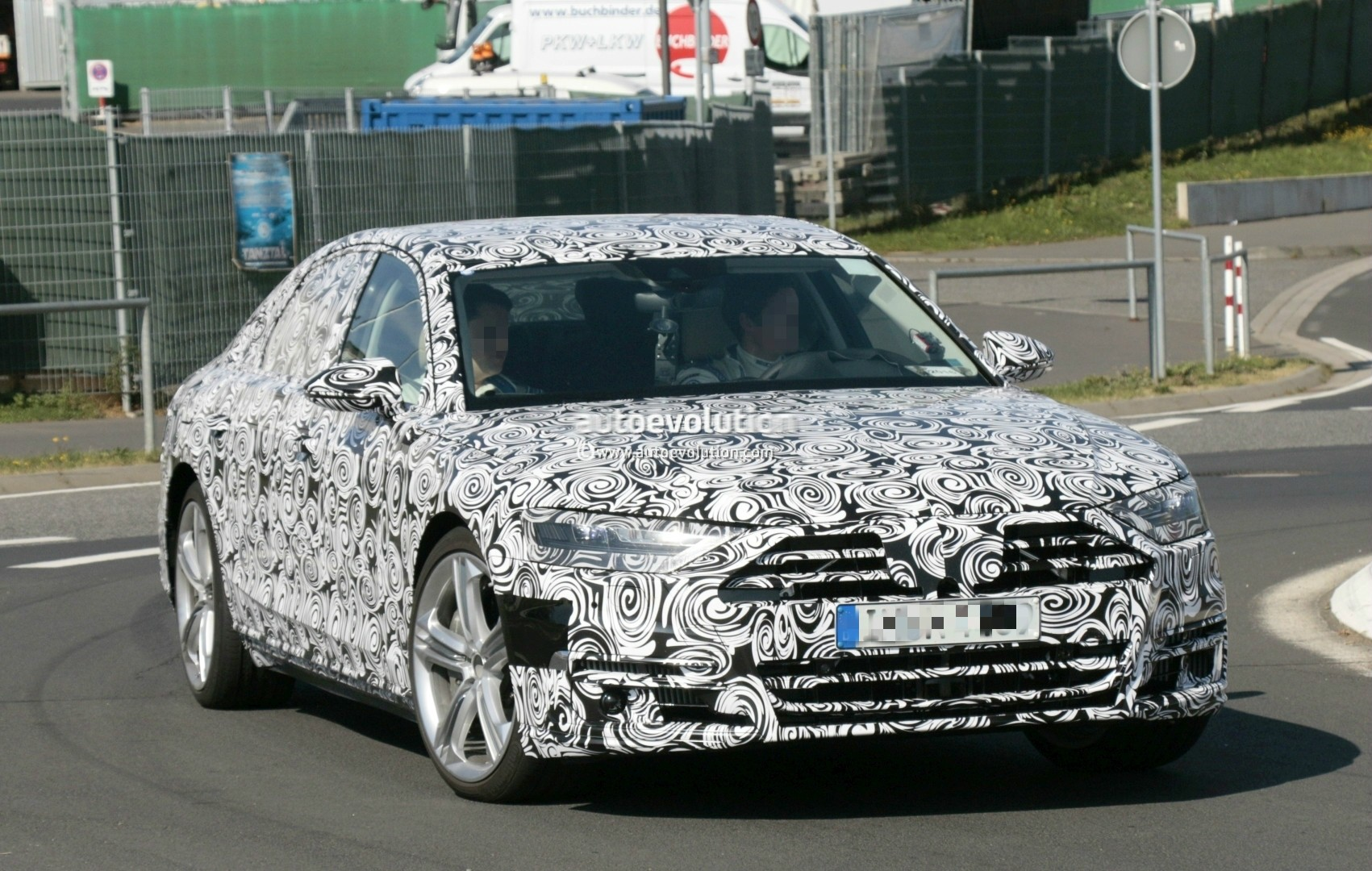 2017 - [Audi] A8 [D5] - Page 4 2018-audi-s8-pre-production-prototype-displays-massive-firepower-at-nurburgring_4