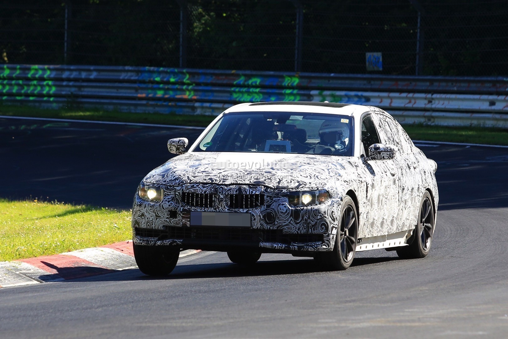 2018 bmw g20. interesting g20 2018 bmw 3 series g20 on the nurburgring inside bmw g20