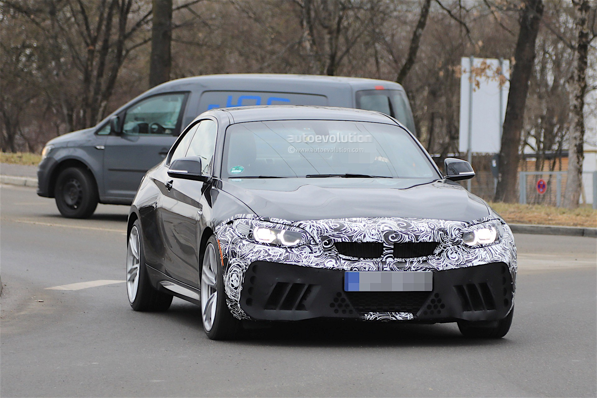 2018 bmw m2 facelift spotted almost uncovered looks as. Black Bedroom Furniture Sets. Home Design Ideas