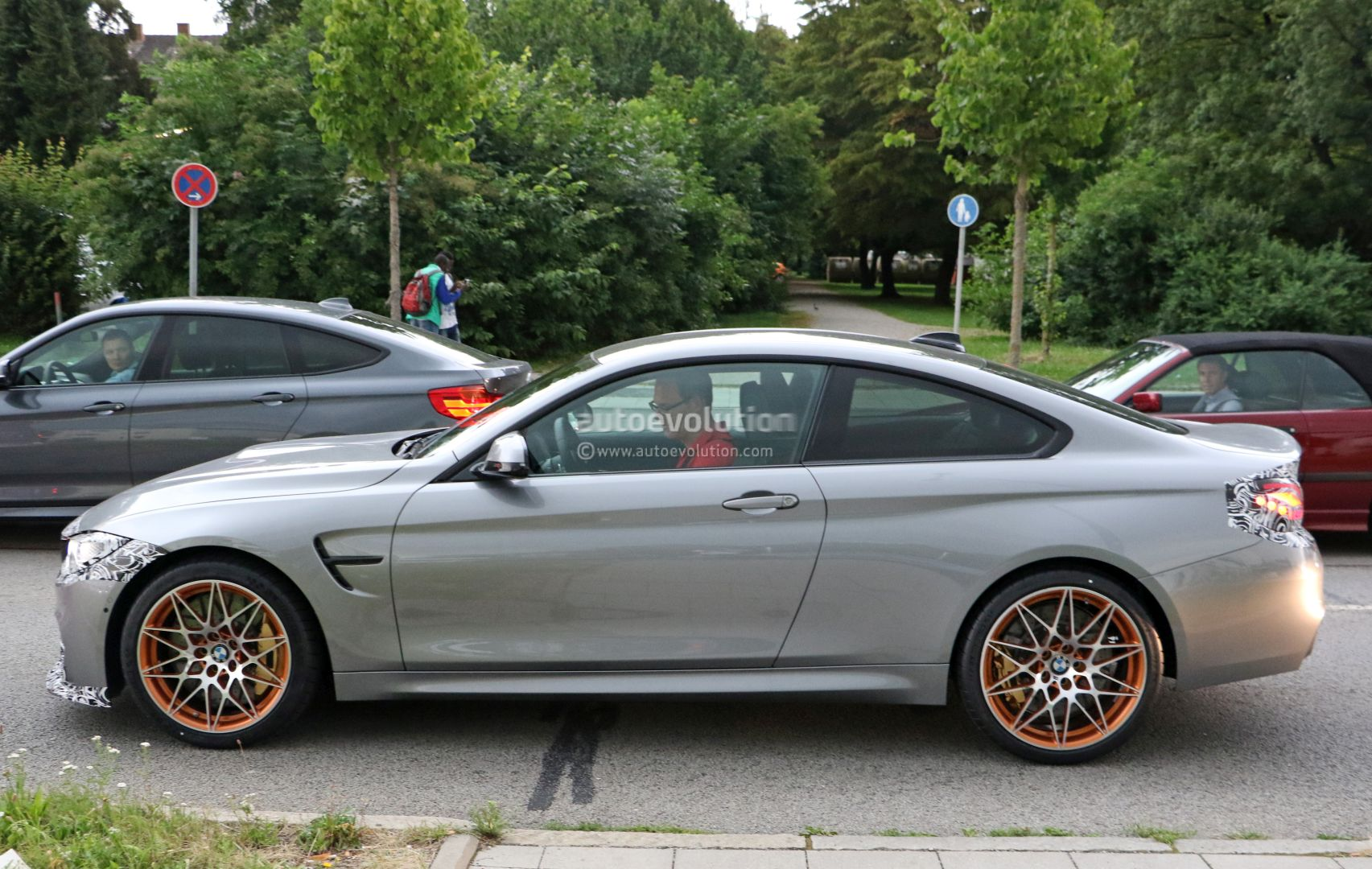 2018 Bmw M4 Facelift Lci Spied With M4 Gts Like Camouflaged Front