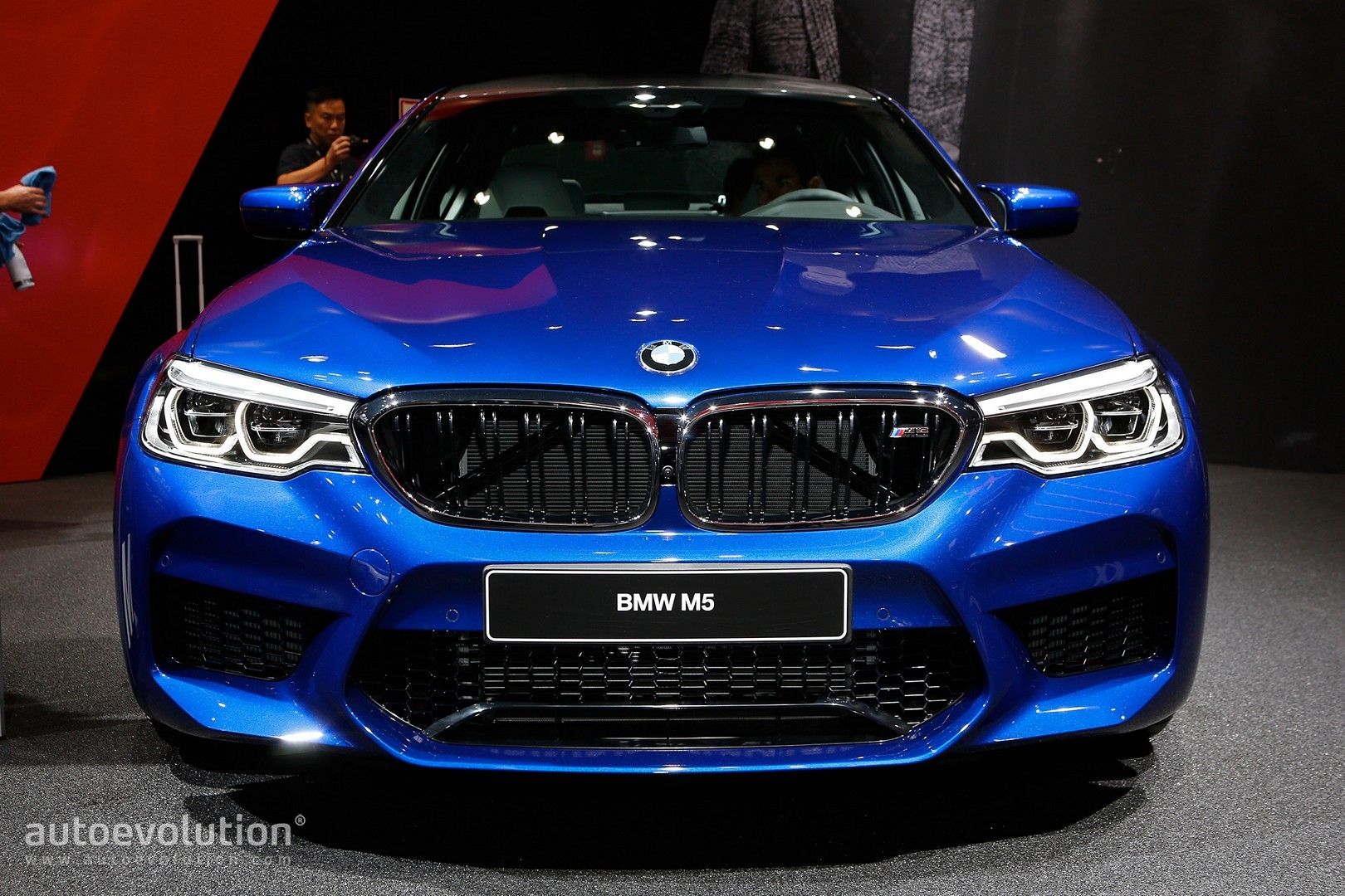 2018 Bmw M5 Flaunts 600 Hp Awd And Frozen Red Paint