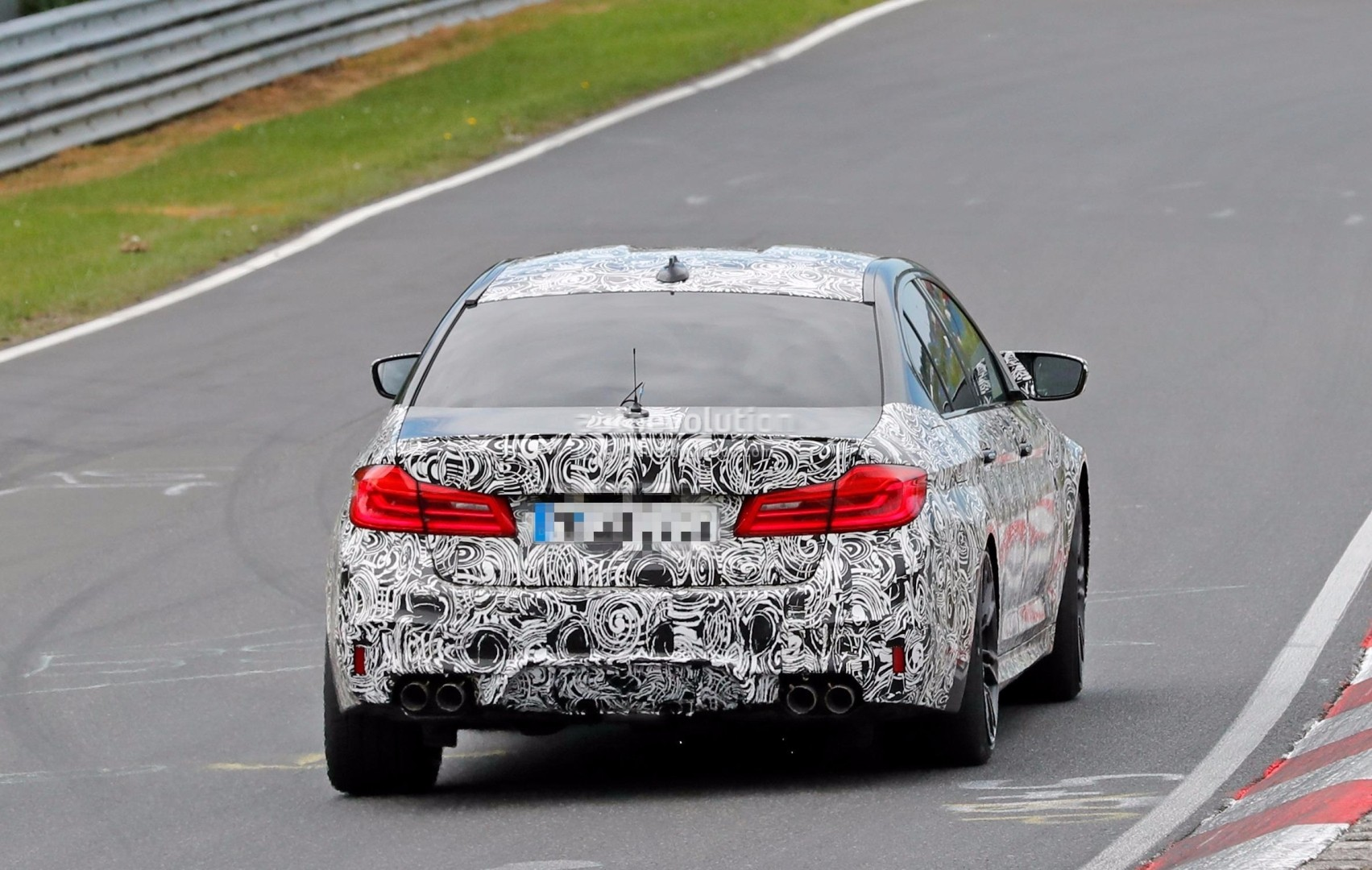 2018 BMW M5 Shows Front Bumper on Nurburgring, Could Pack Active ...