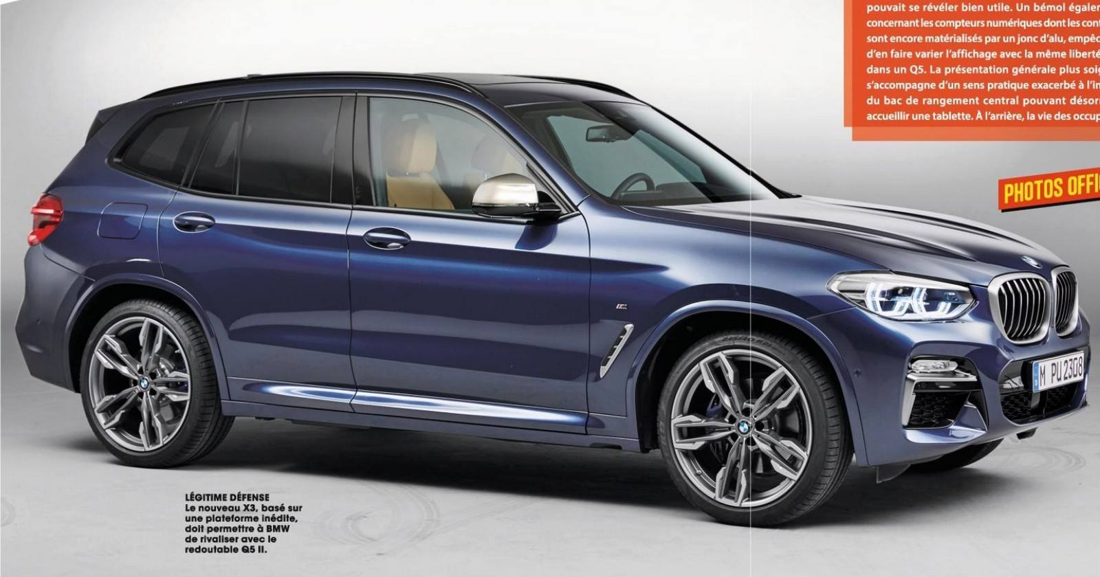 2018 bmw x3 official photos and details leaked including m40i autoevolution. Black Bedroom Furniture Sets. Home Design Ideas