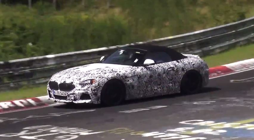 2018 BMW Z4 Prototype Shows Production Front End and Tailpipes on