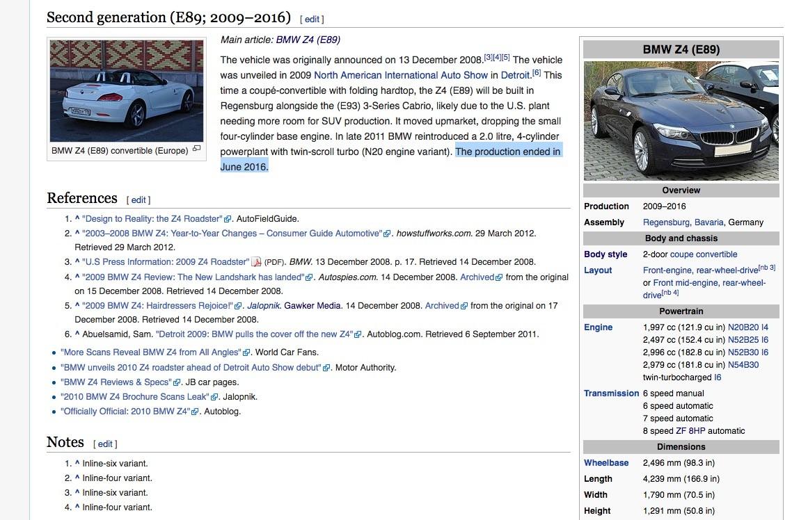 2018 BMW Z5 Spied in Munich 2016 BMW Z4 Reportedly Out of