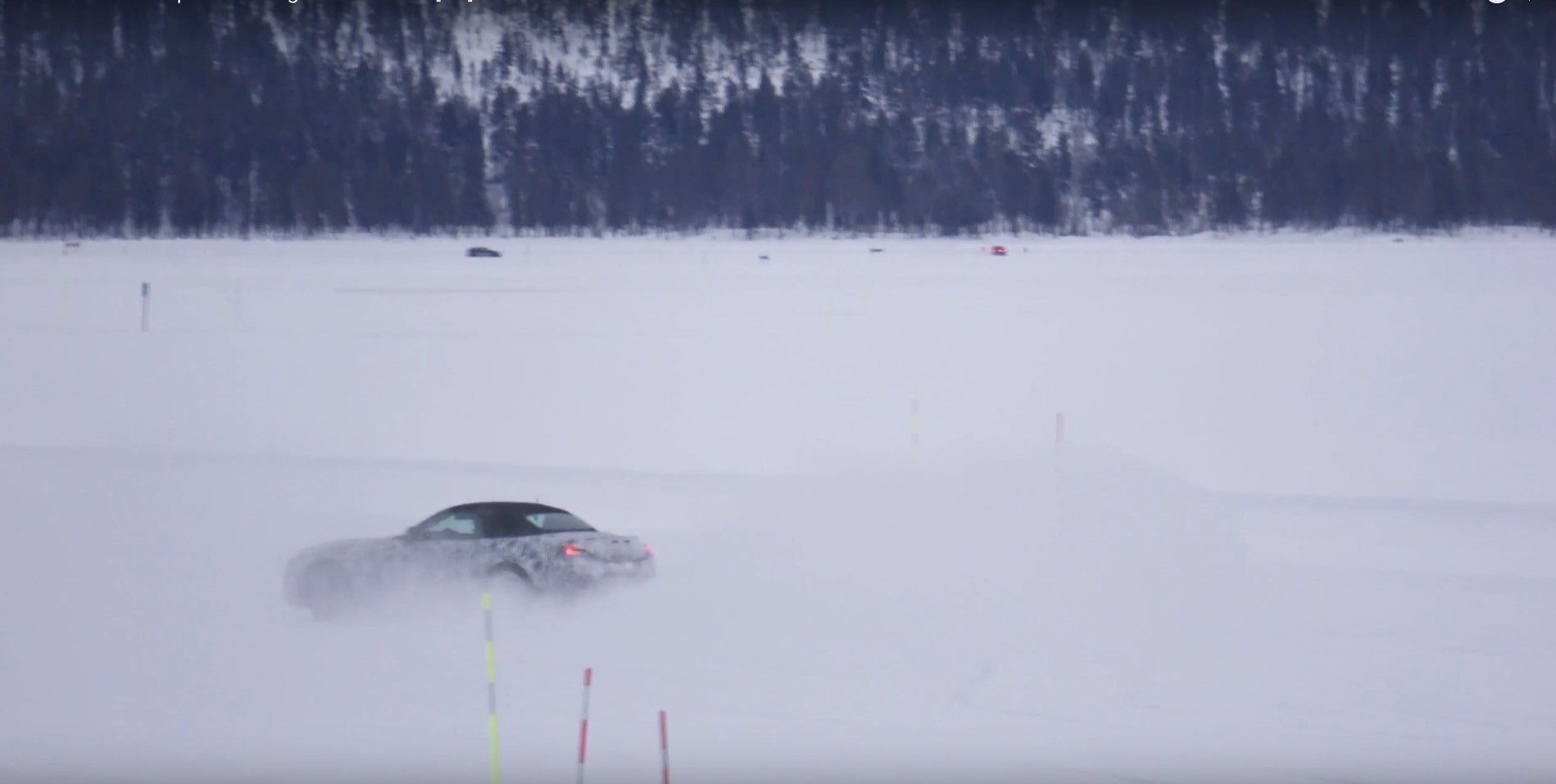 2018 Bmw Z5 Spied Drifting In The Snow It S Tail Happy