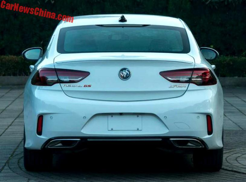 2018 Buick Regal Gs Leaks In China Has 2 0t Engine Autoevolution