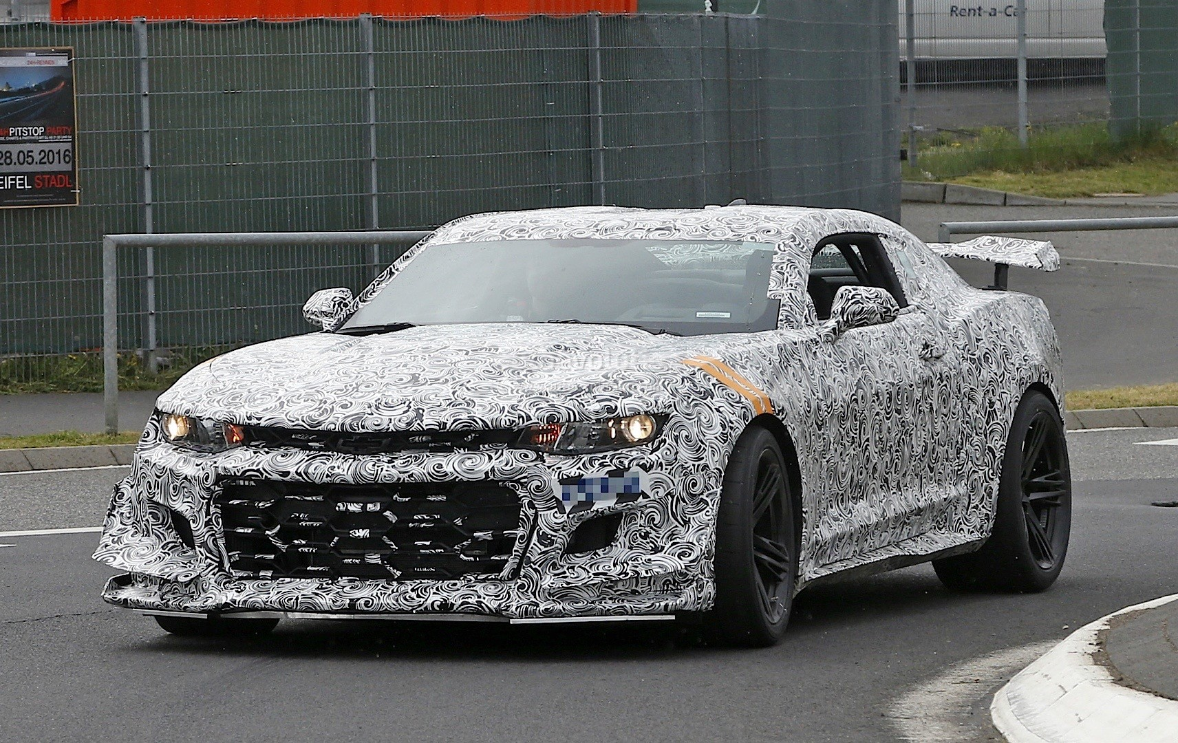 2018 chevrolet camaro z 28 spied on the nurburgring