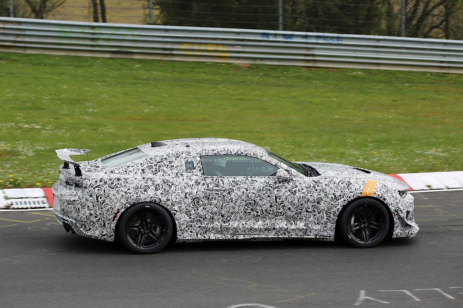 2018 chevrolet camaro z 28 spied on the nurburgring