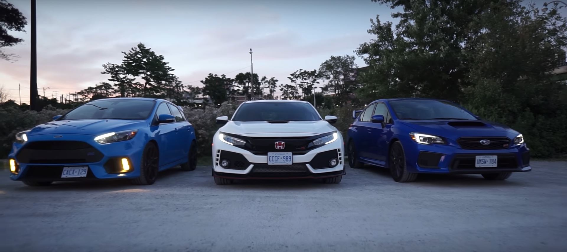 Ford Focus RS Meets 2018 Honda Civic Type R and 2018 ...