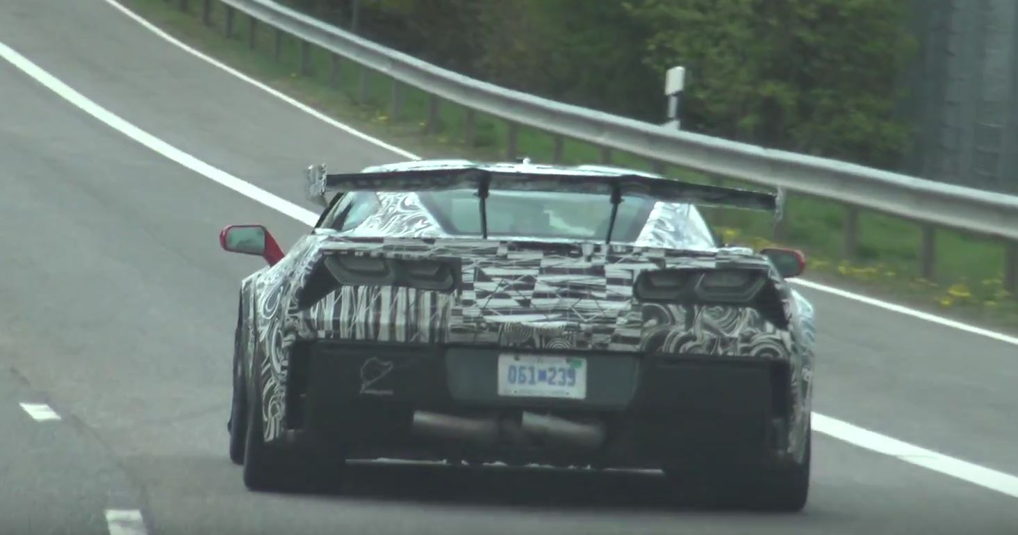 2018 corvette zr1 on nurburgring and road with two body kits