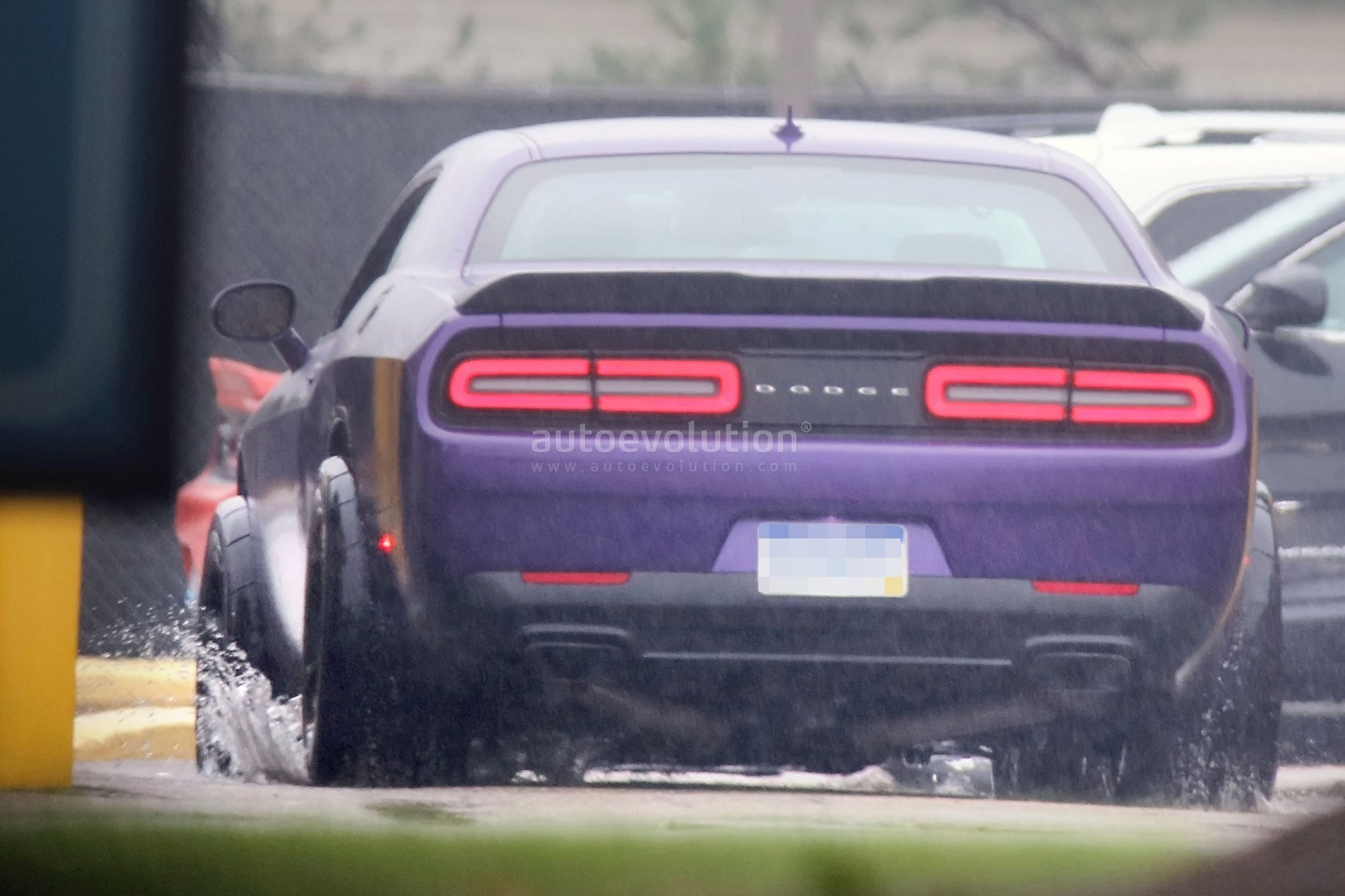 2018 dodge hemi. perfect 2018 dodge challenger hellcat adr spied is a widebody sore thumb  2018 with dodge hemi
