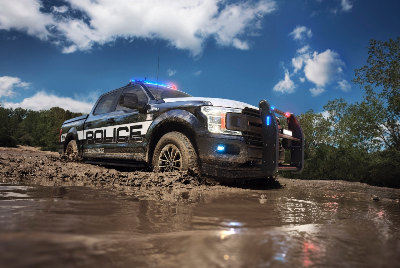 Your police cars are no match for Ford's police pick-up truck