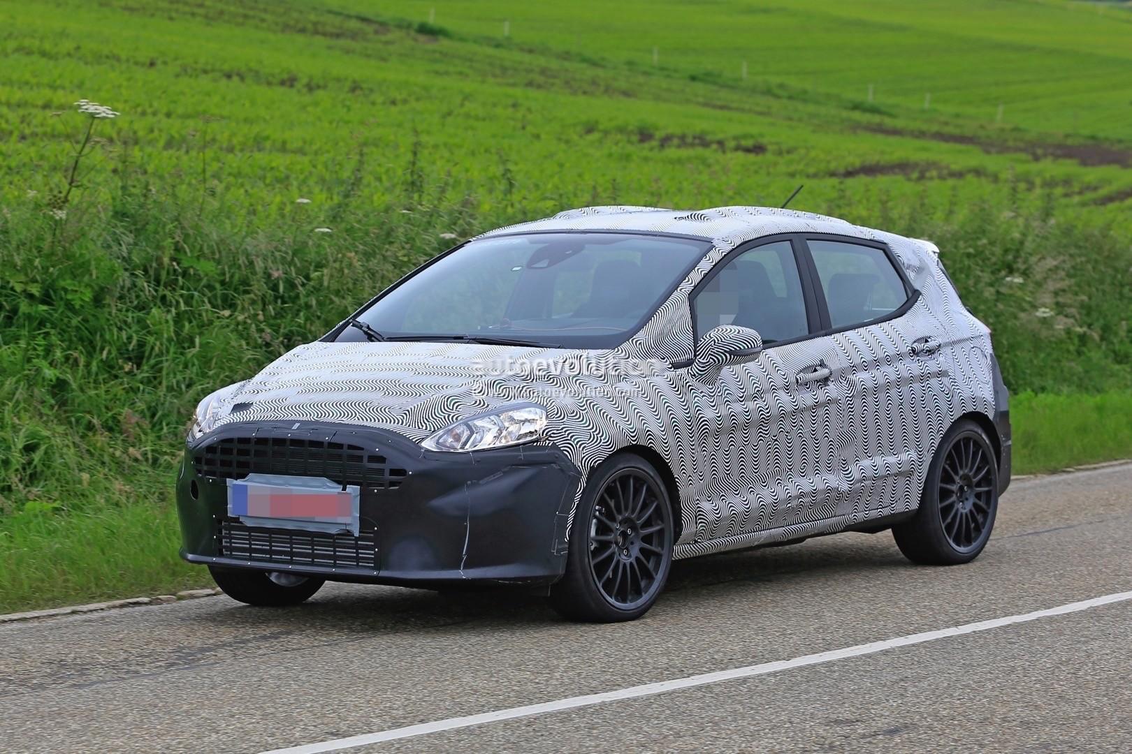 2018 Ford Fiesta St Spied Benchmarking Against Current Fiesta St