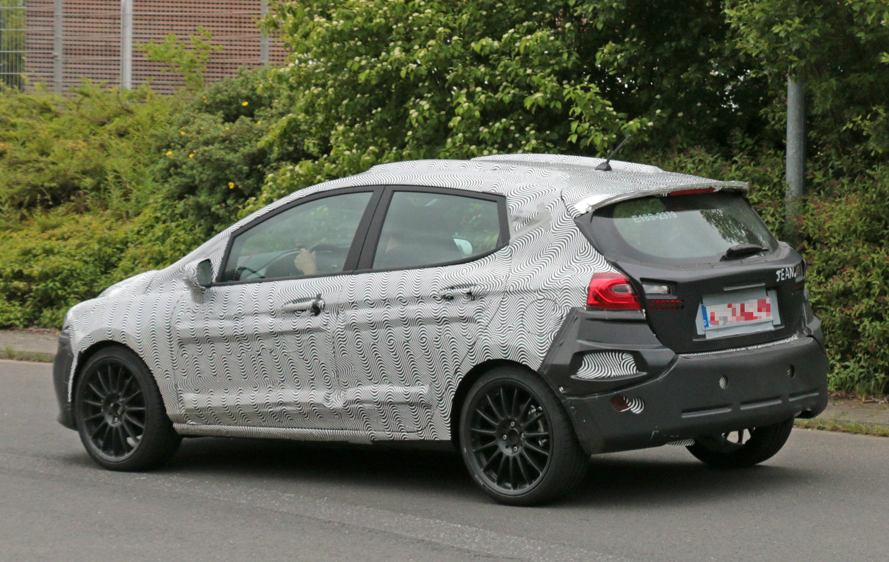 2018 ford fiesta st spied benchmarking against current fiesta st autoevolution