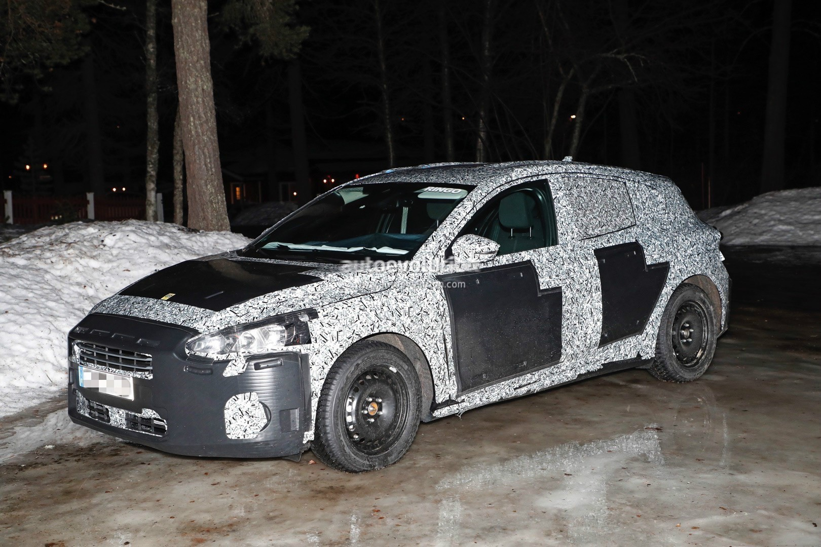 2018 Ford Focus (Mk4) Spied Wearing Production Body Shell ...