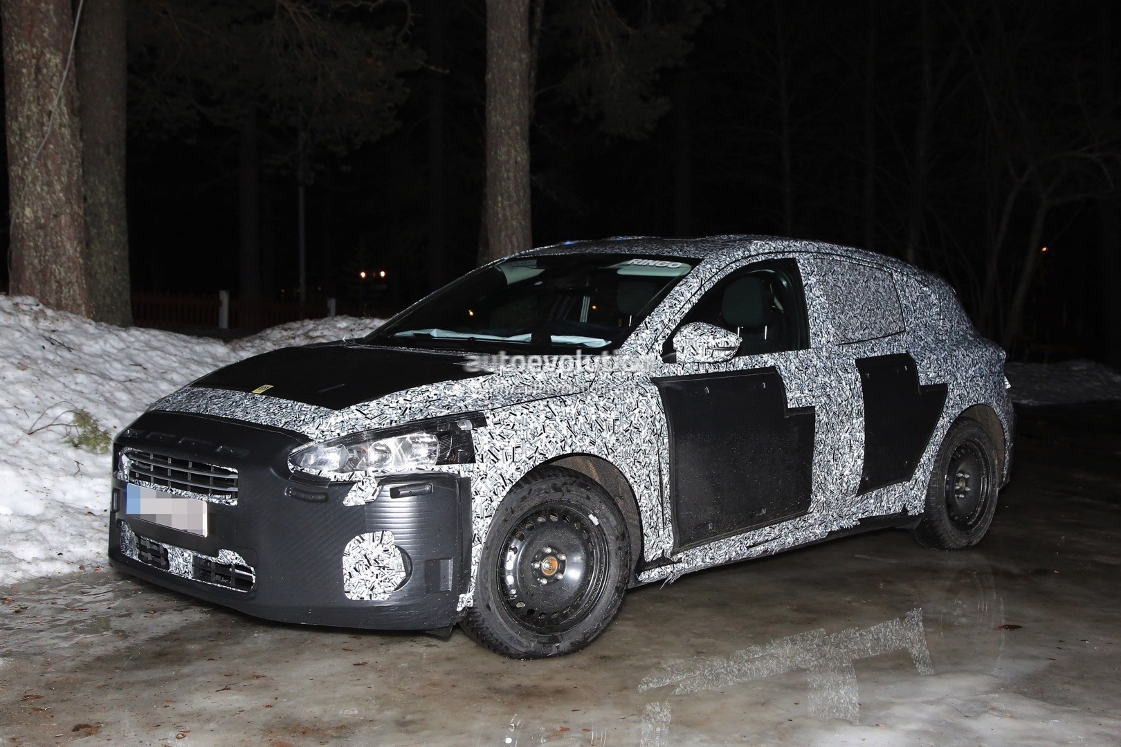 2018 ford focus mk4 spied wearing production body shell