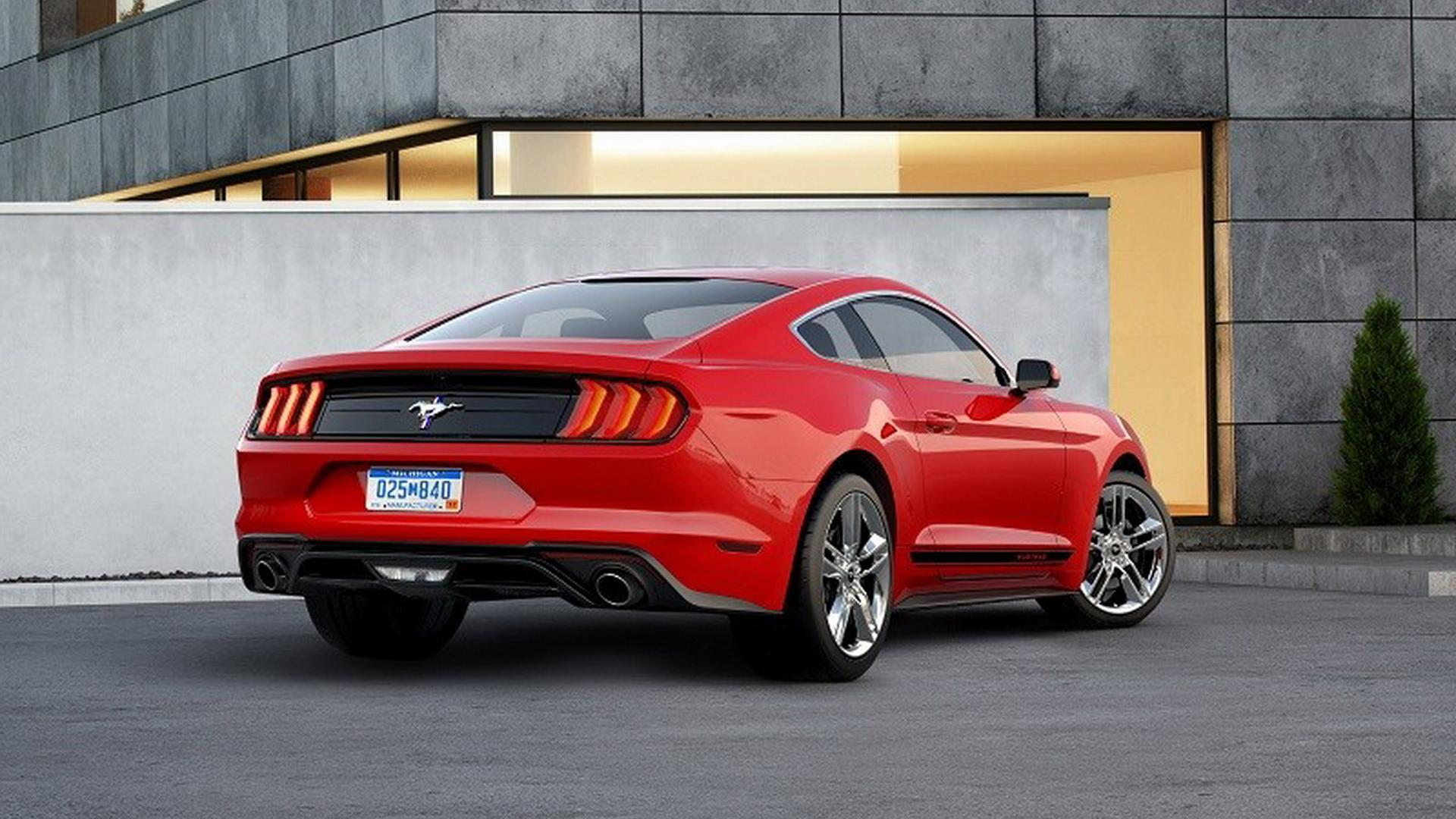 2018 ford mustang travels to the 1960s with retro pony. Black Bedroom Furniture Sets. Home Design Ideas