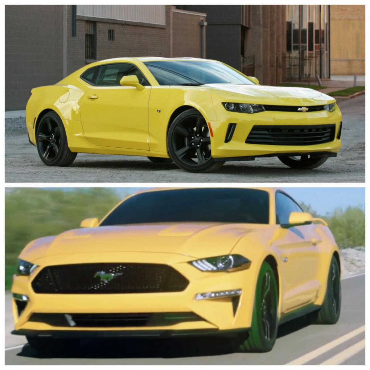 2018 ford mustang gt orange fury with performance pack vs gen 6 camaro