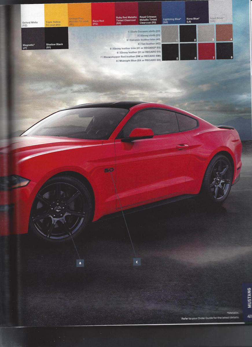 2018 Ford Mustang Order Guide Companion Details Carbon Sport Interior Package - autoevolution