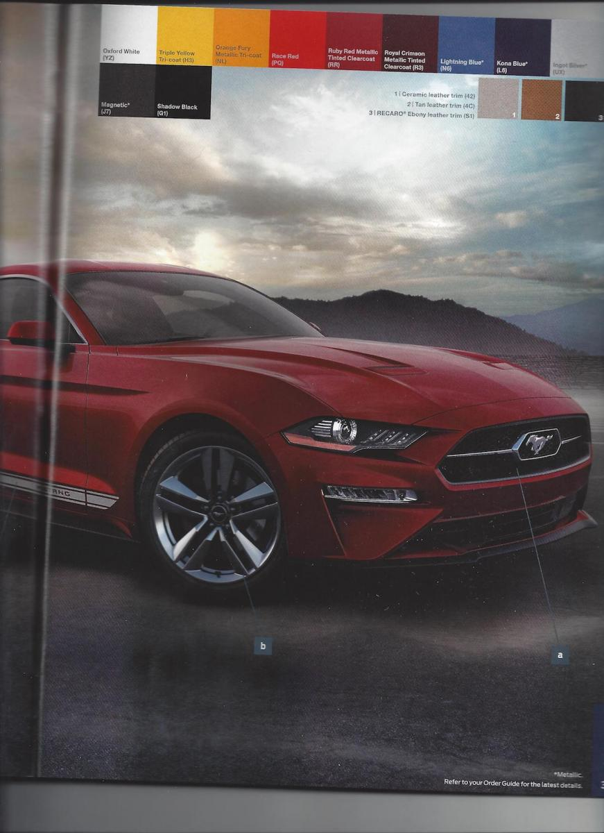 2018 Ford Mustang Order Guide Companion Details Carbon