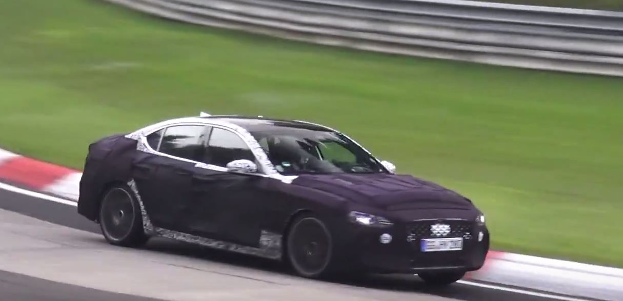 2018 genesis twin turbo. perfect twin 2018 genesis g70 testing at the nurburgring as sporty bmw 3 series on genesis twin turbo