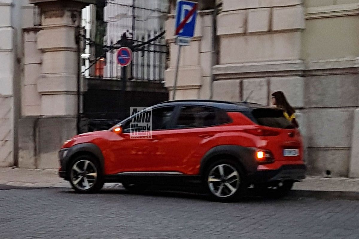 2018 hyundai crossover. plain 2018 2018 hyundai kona uncamouflaged during photo shoot in portugal and hyundai crossover a