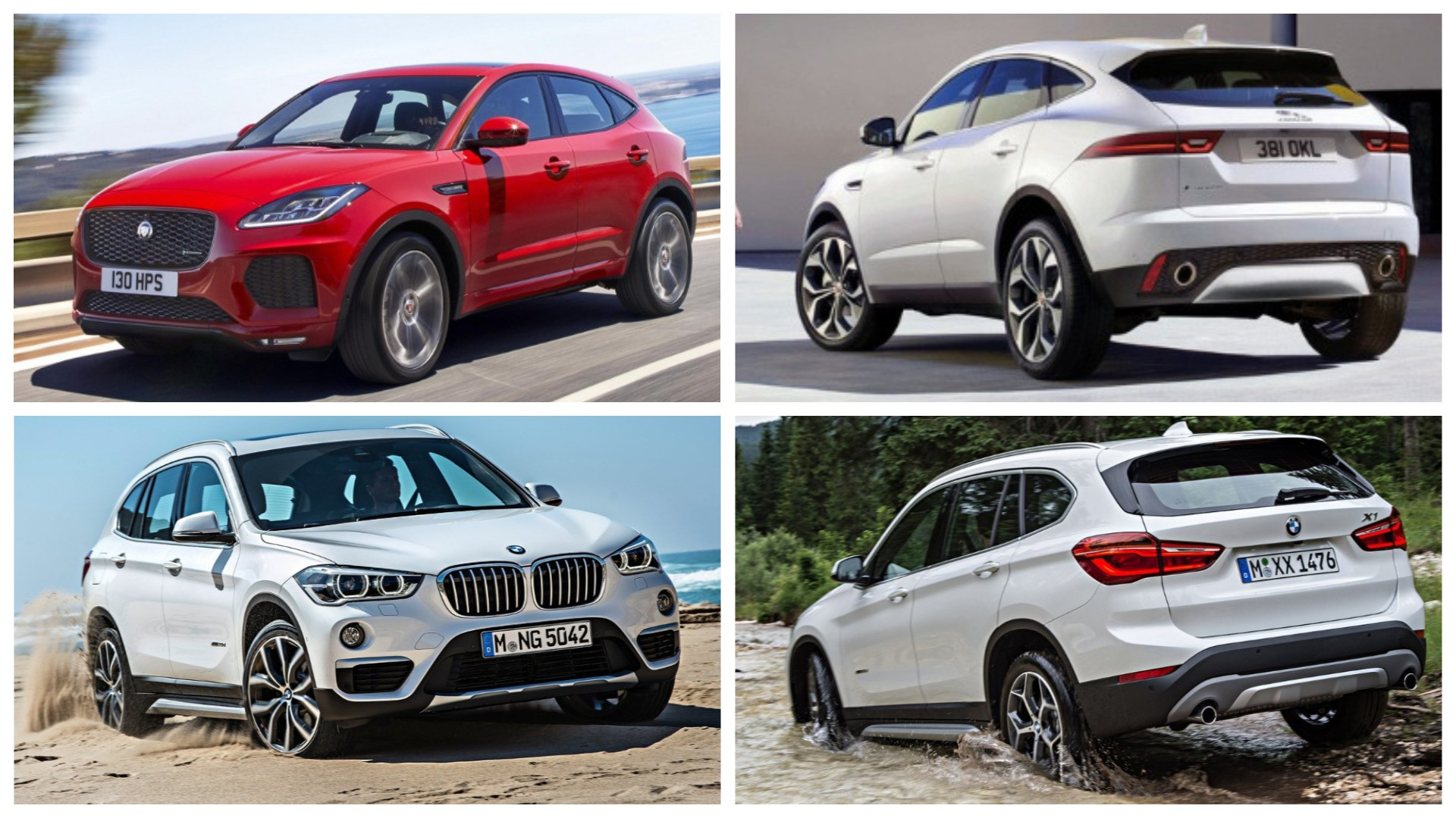 2018 jaguar e pace vs bmw x1 photo comparison clash of crossovers autoevolution. Black Bedroom Furniture Sets. Home Design Ideas