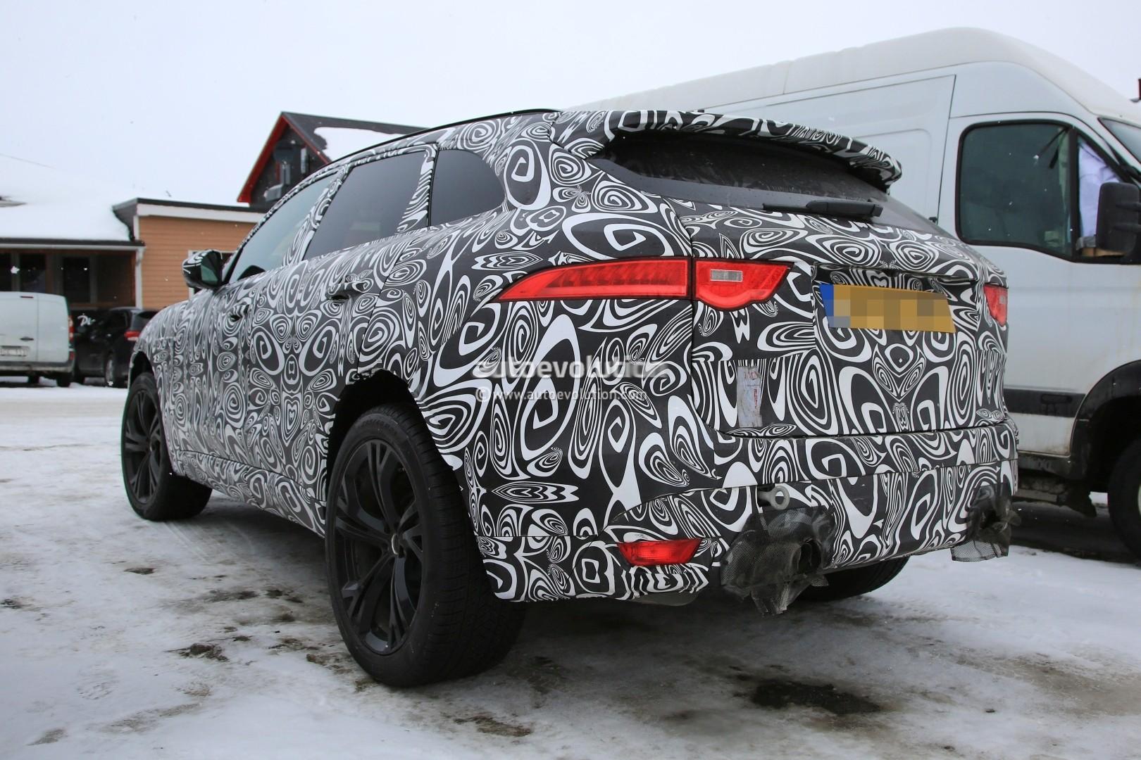 2018 jaguar v8. unique 2018 2018 jaguar fpace svr prototype with jaguar v8