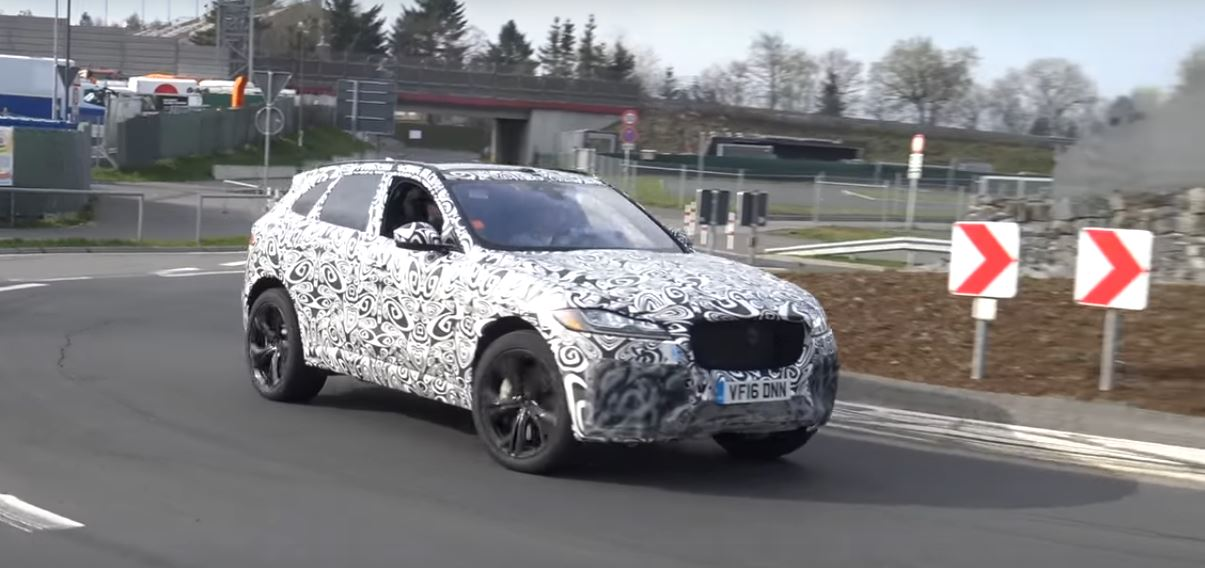 2018 jaguar f pace svr. contemporary pace 2018 jaguar fpace svr testing on nurburgring for jaguar f pace svr v
