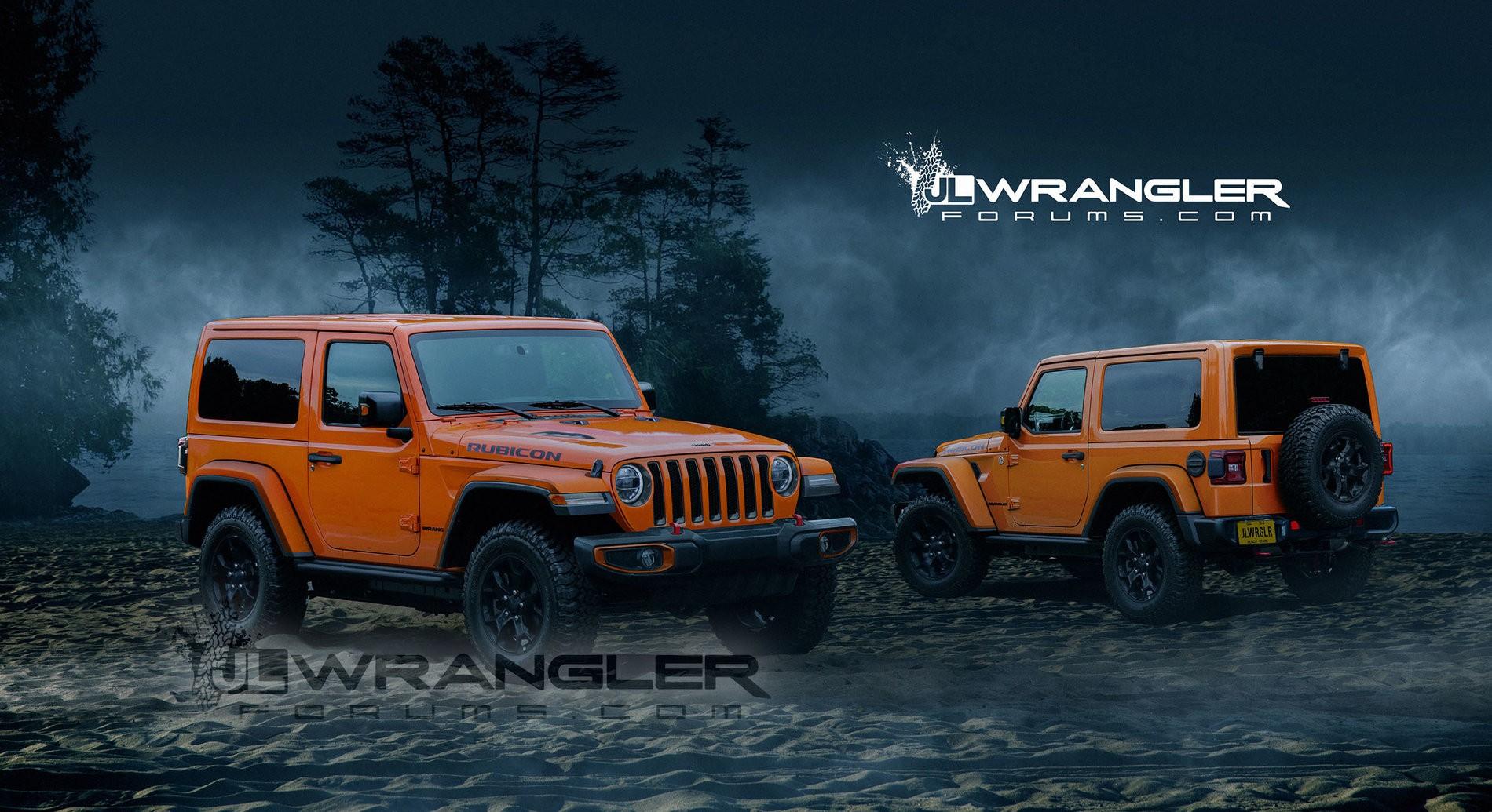... 2018 Jeep Wrangler (JL) rendering based on spy photos ...