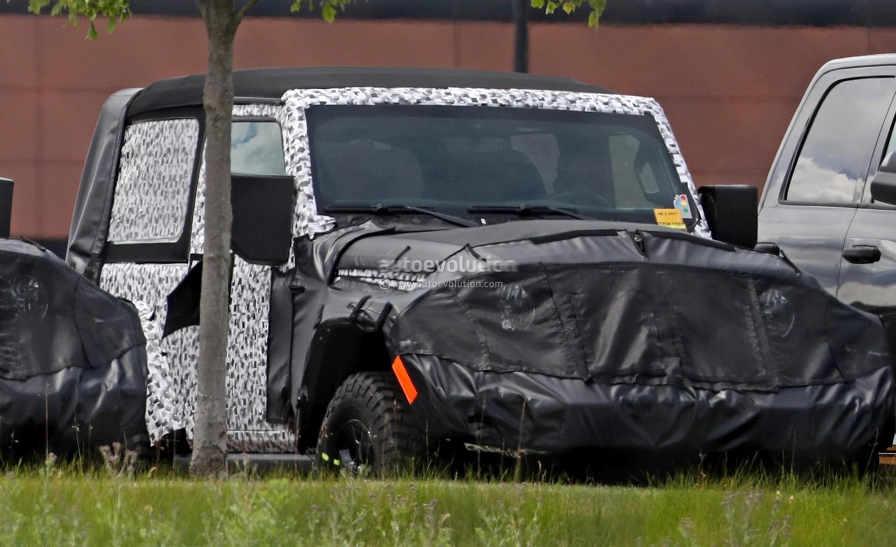 2018 Jeep Wrangler Jl Two Door Spied Shows Hardtop And