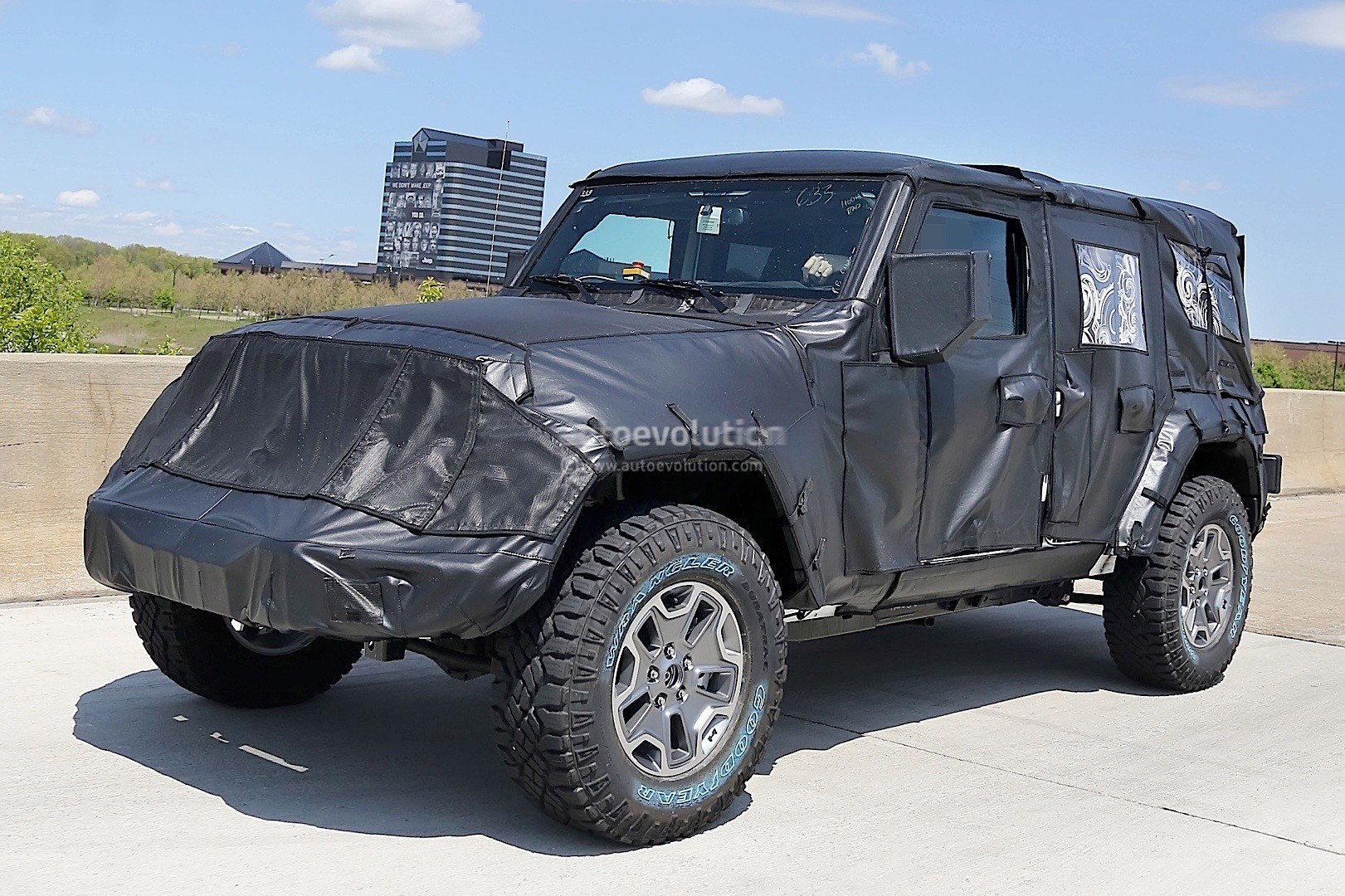 2018 jeep wrangler jl spied shows new hardware autoevolution. Black Bedroom Furniture Sets. Home Design Ideas