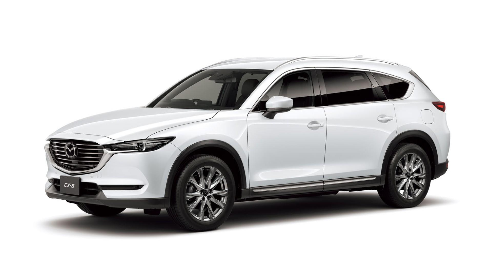 2018 mazda cx 8 unveiled new suv is currently exclusive to japan autoevolution. Black Bedroom Furniture Sets. Home Design Ideas