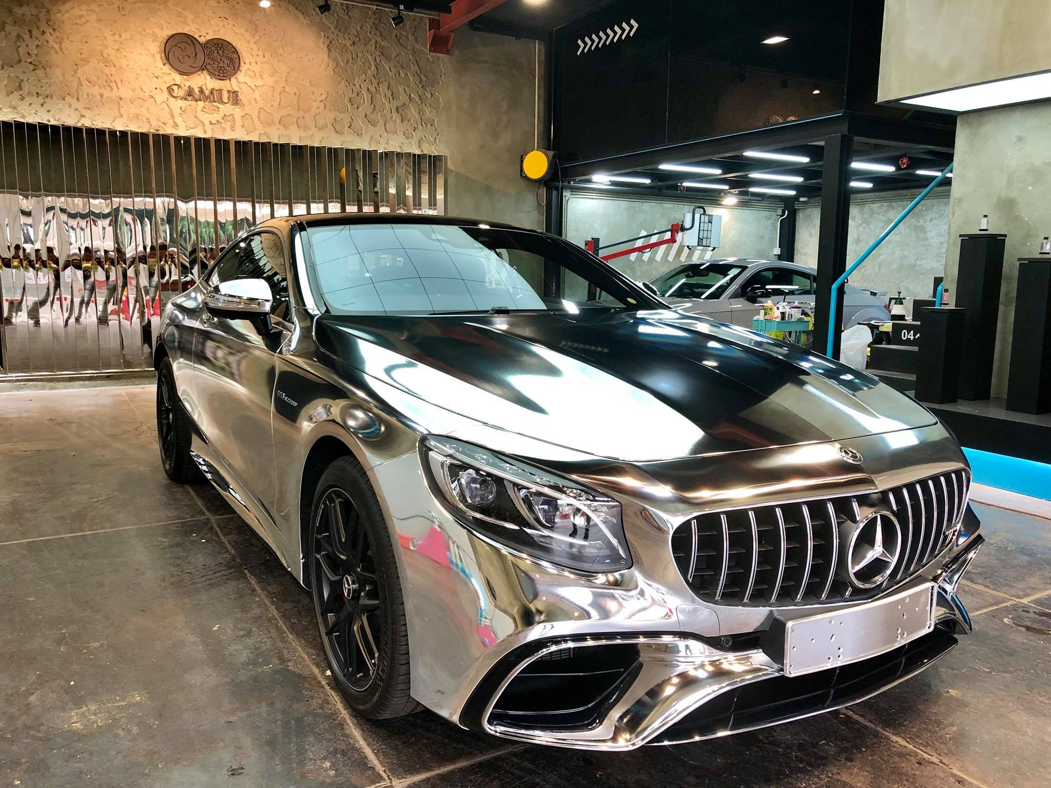2018 Mercedes-AMG S63 Coupe Gets the Silver Surfer Wrap in ...