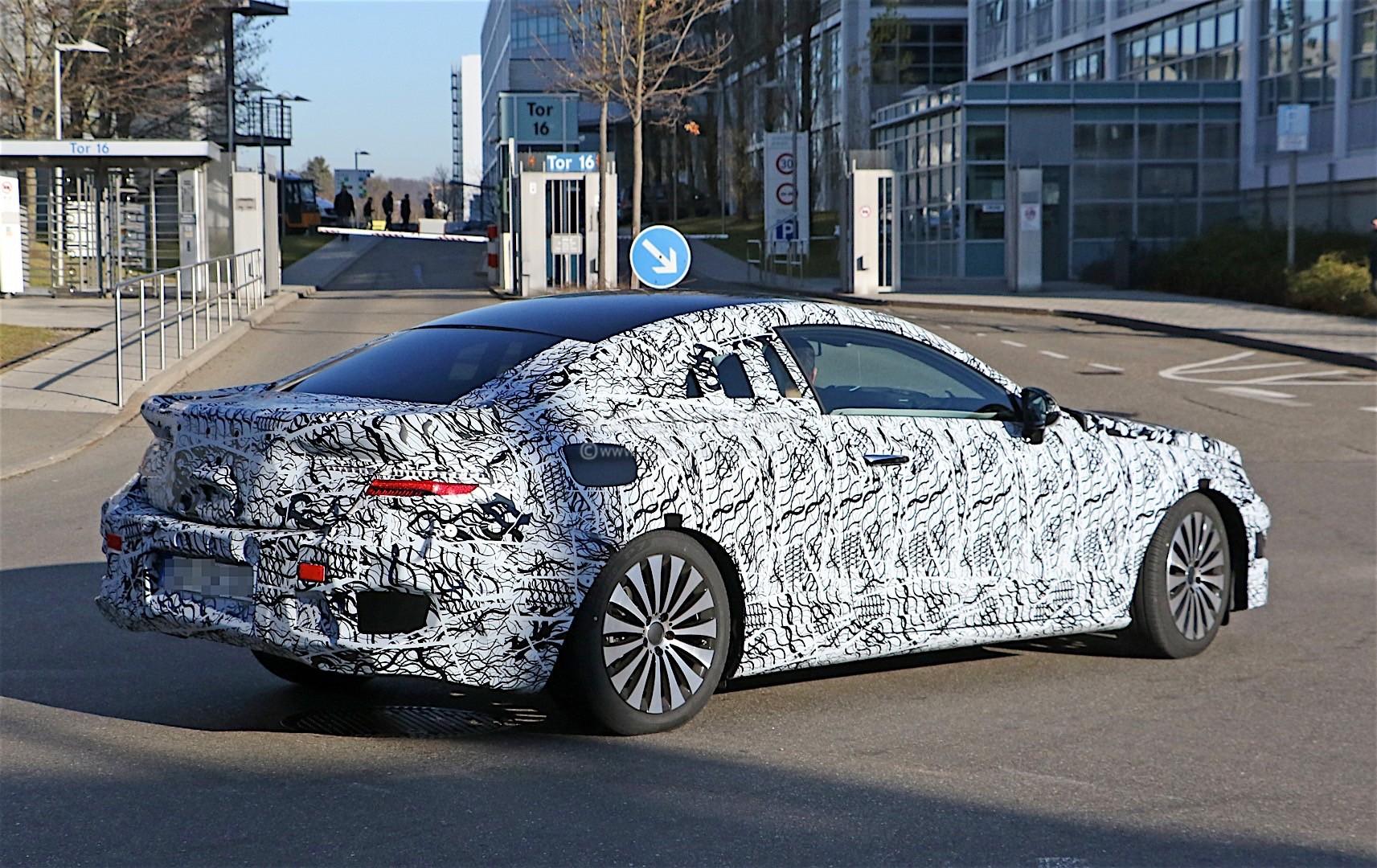 2018 mercedes benz e class coupe shows its b pillarless for New mercedes benz e class 2018