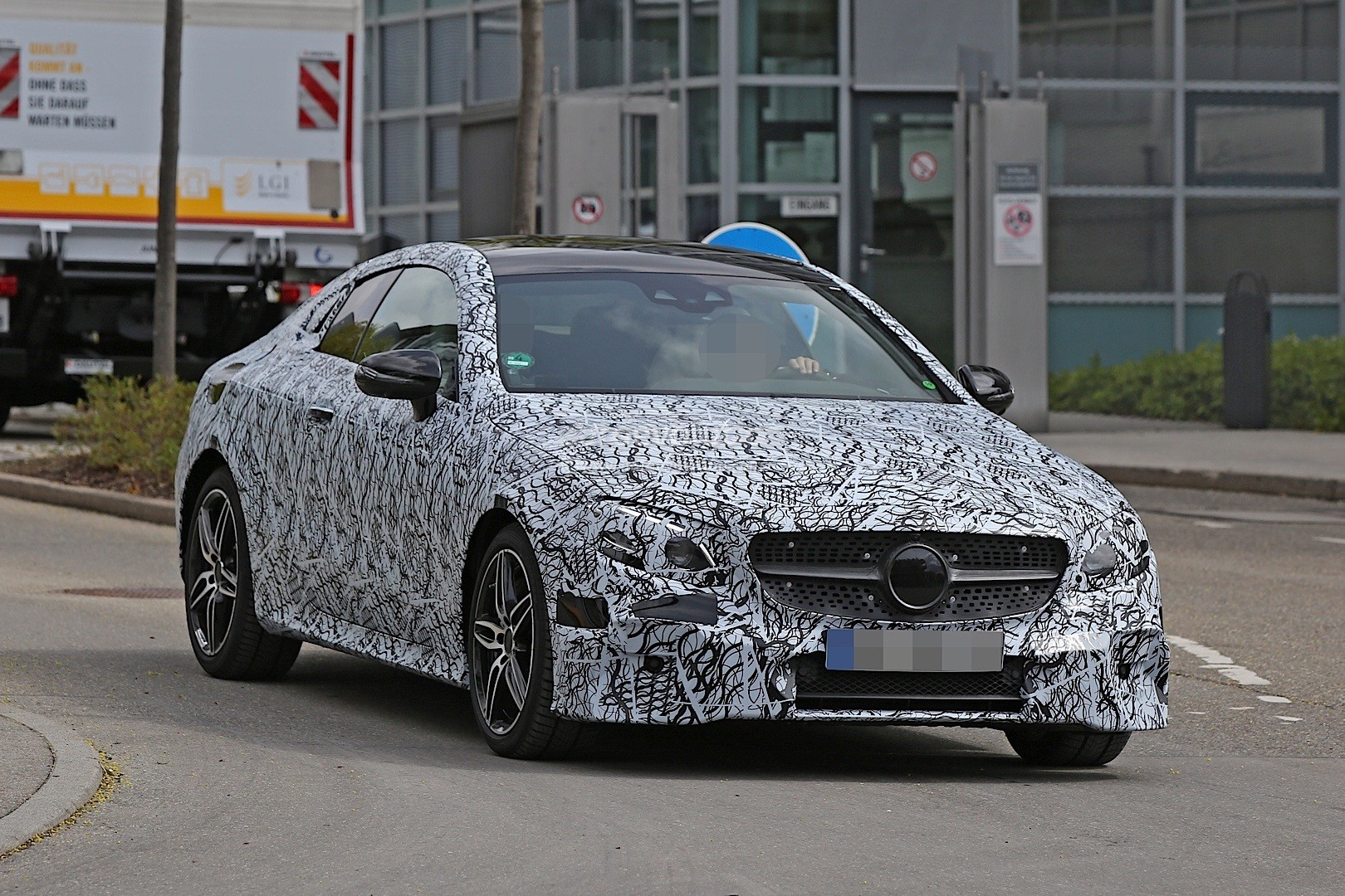 2018 mercedes benz e class coupe spied in germany for Mercedes benz in germany