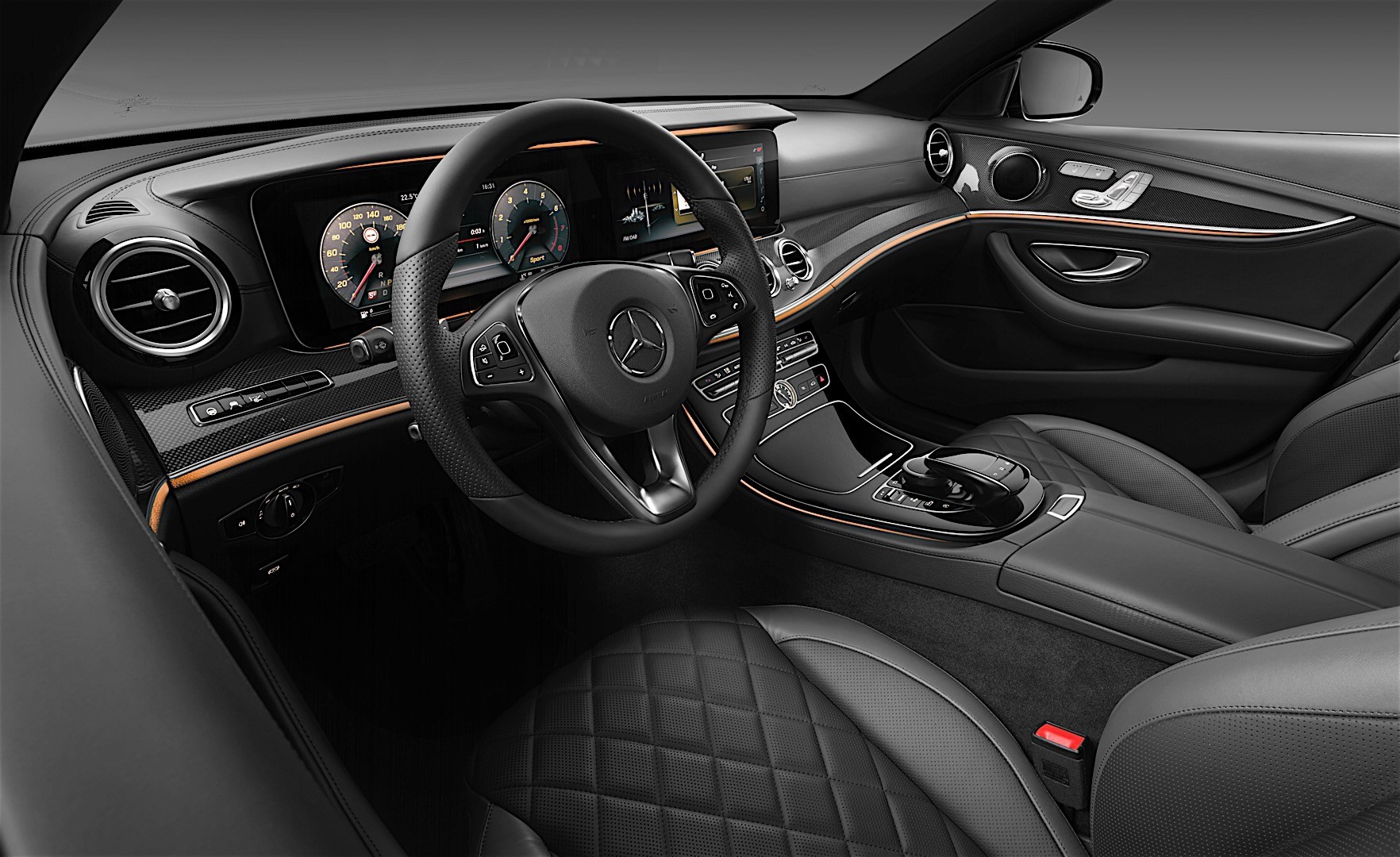 2017 mercedes benz e class interior officially unveiled. Black Bedroom Furniture Sets. Home Design Ideas