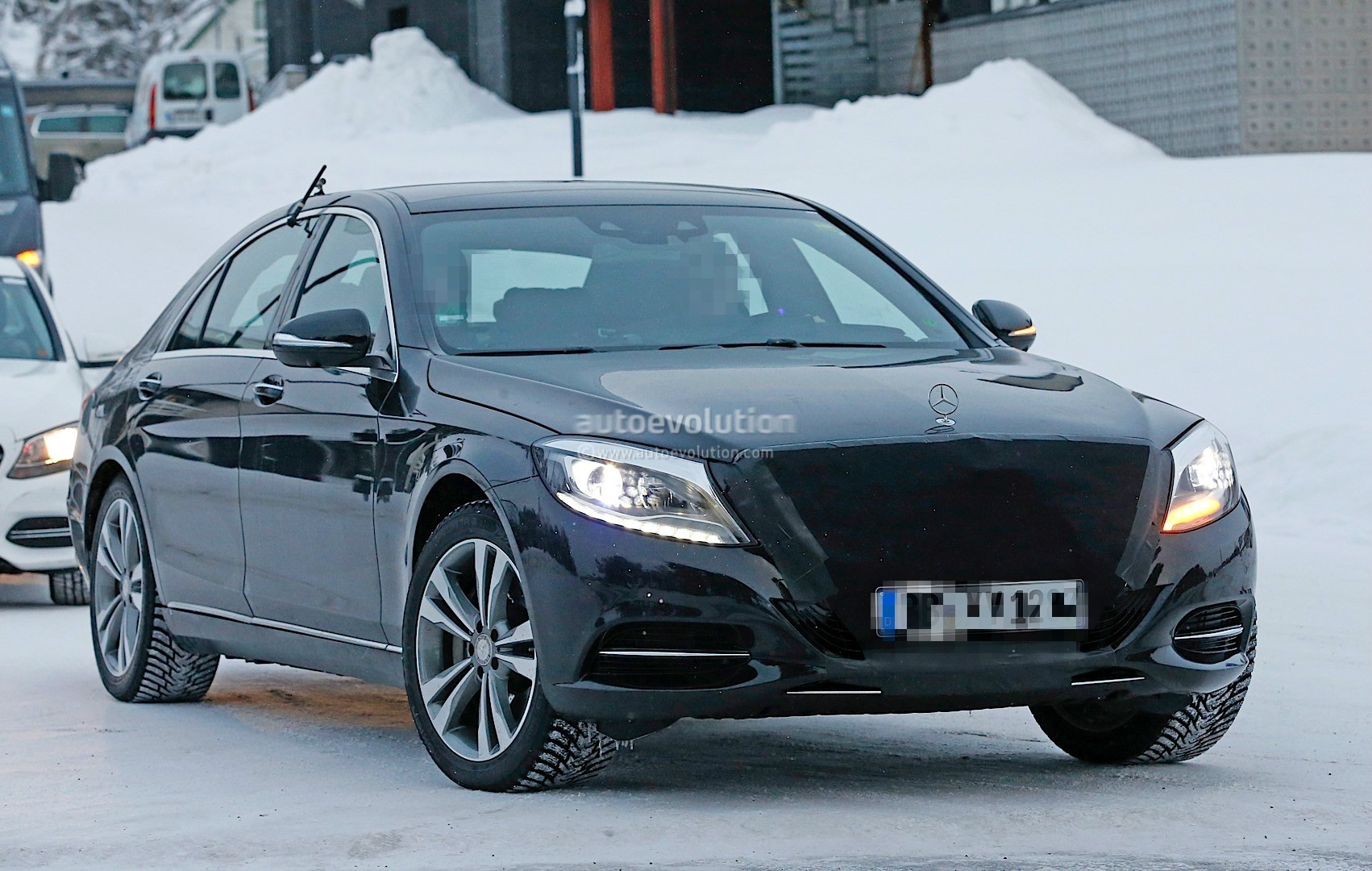 2018 Mercedes Benz S Class Facelift Emerges With Covered