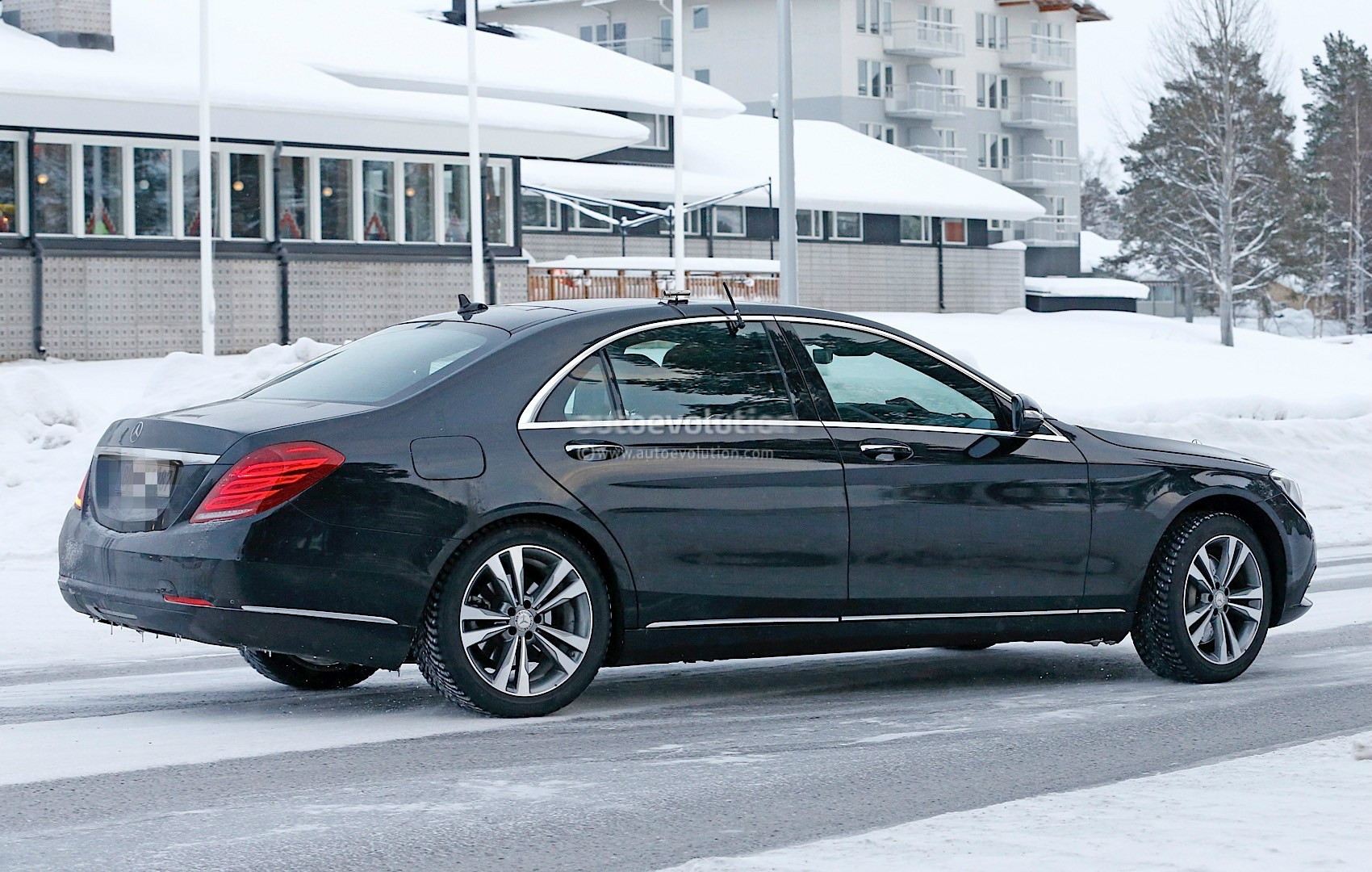 2018 mercedes benz s class facelift emerges with covered for 2018 mercedes benz s550