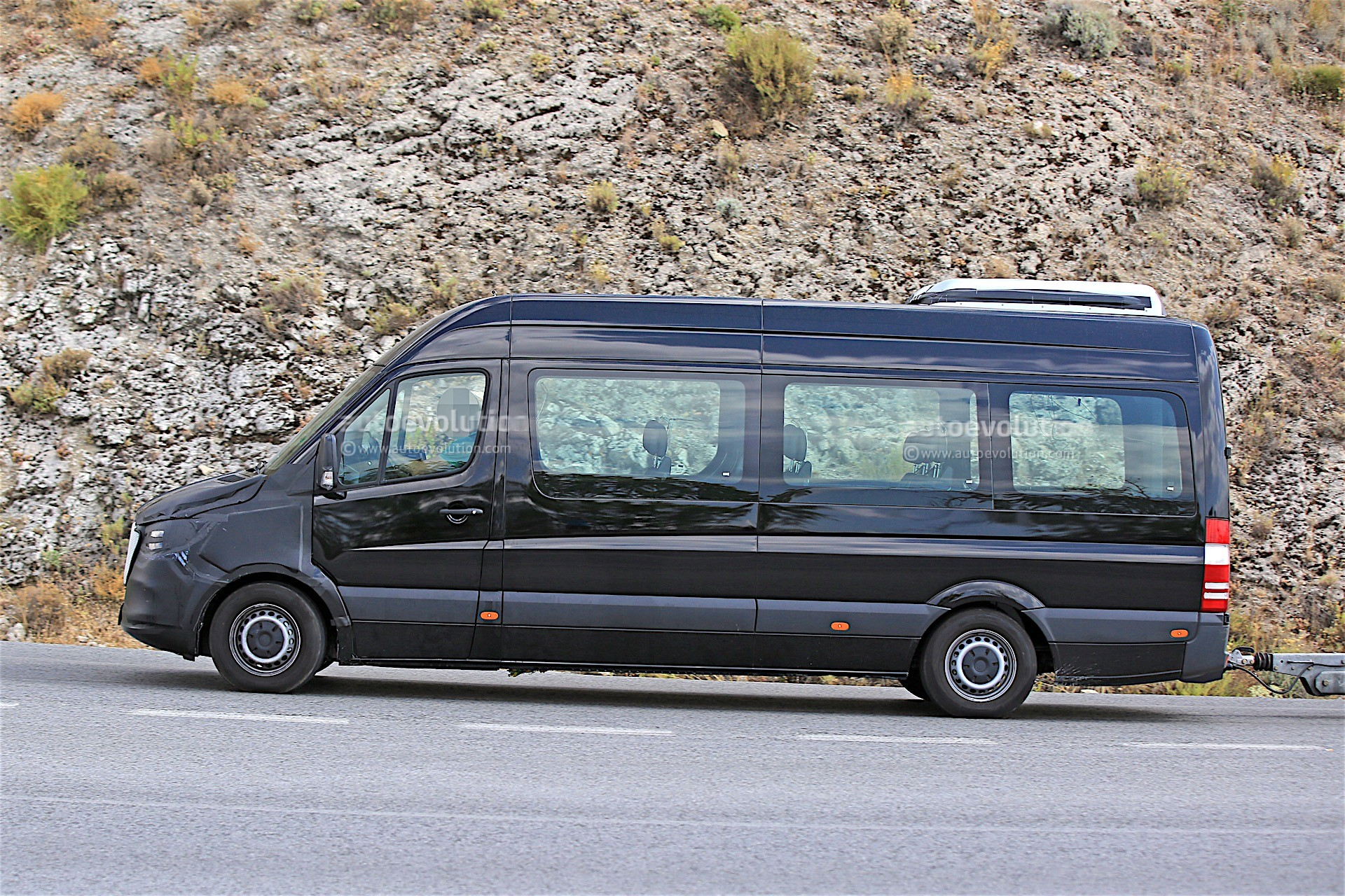 The minibuses based on the mercedes benz sprinter 2018 also gets to -  2018 Mercedes Benz Sprinter Prototype