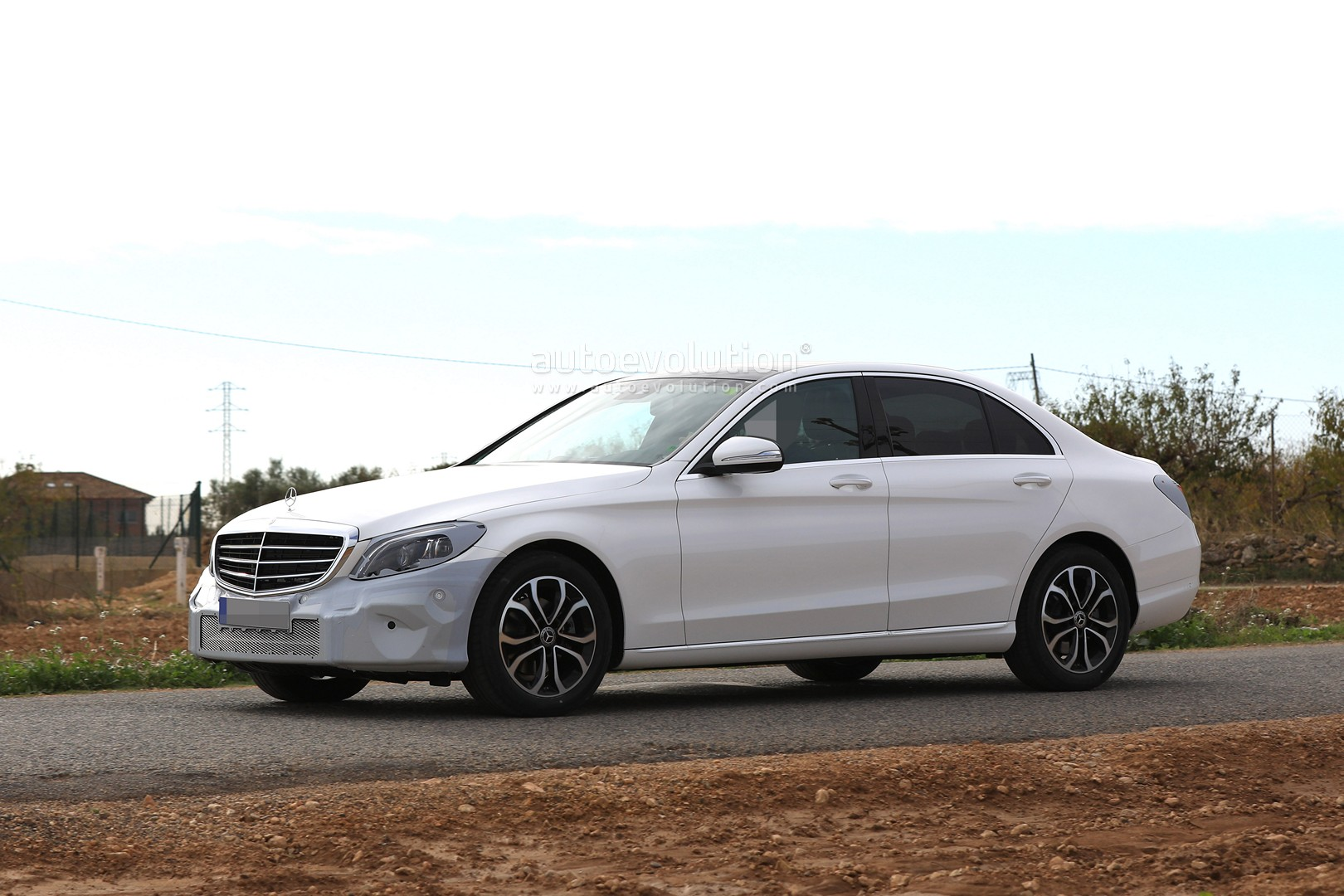 2018 mercedes c class facelift spied without camouflage. Black Bedroom Furniture Sets. Home Design Ideas