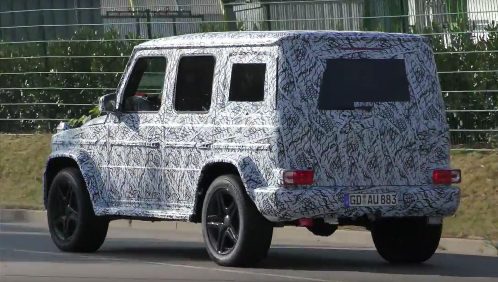 2018 mercedes g class looks like a tuning project in. Black Bedroom Furniture Sets. Home Design Ideas