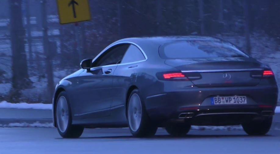 2018 mercedes benz s class coupe. beautiful coupe 2018 mercedesbenz sclass coupe spied intended mercedes benz s class coupe
