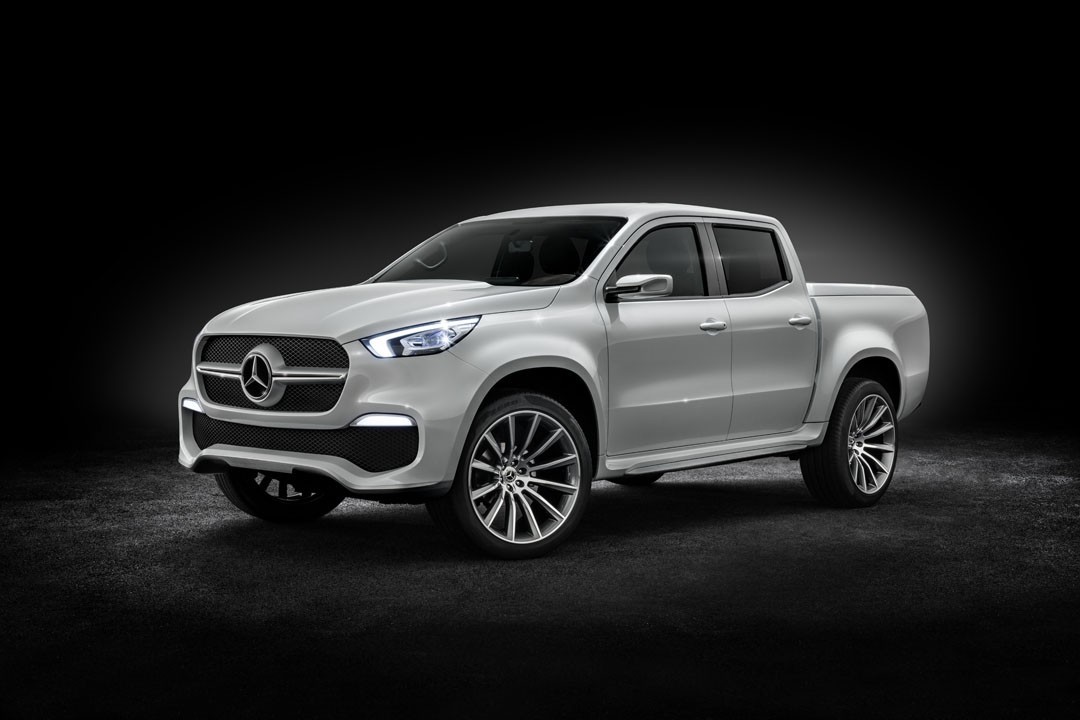2018 mercedes x class truck prototype shows production for Mercedes benz truck pictures