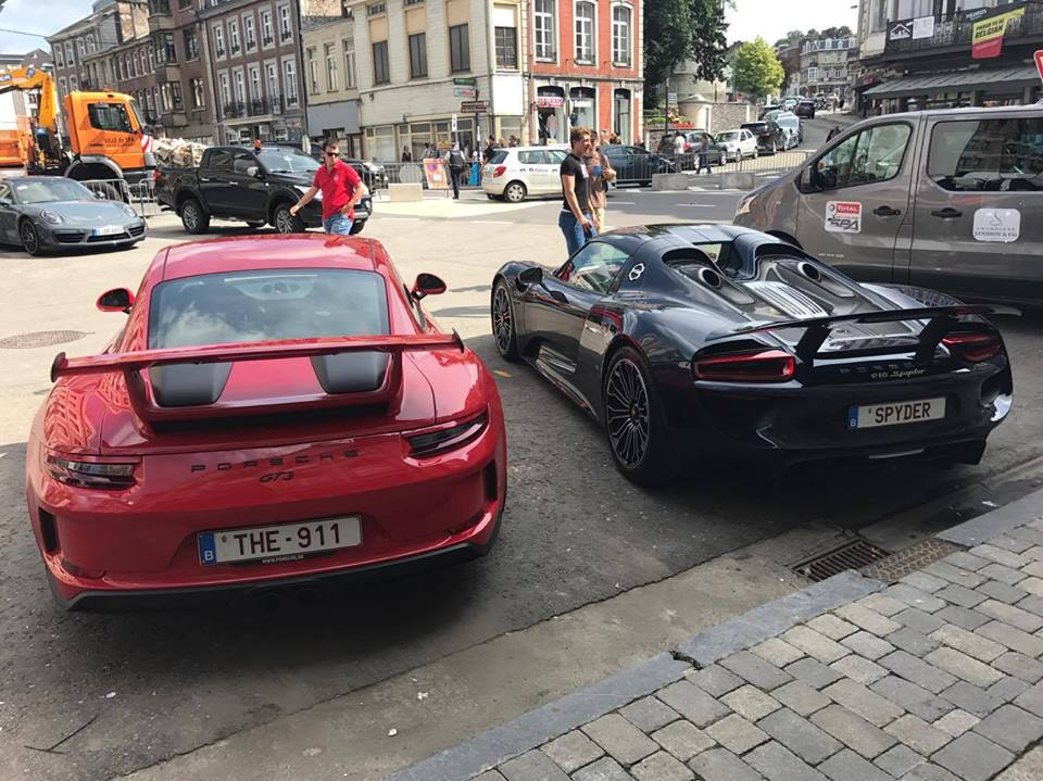 2018 porsche gt3 chalk. brilliant 2018 2018 porsche 911 gt3 and 918 spyder in porsche gt3 chalk