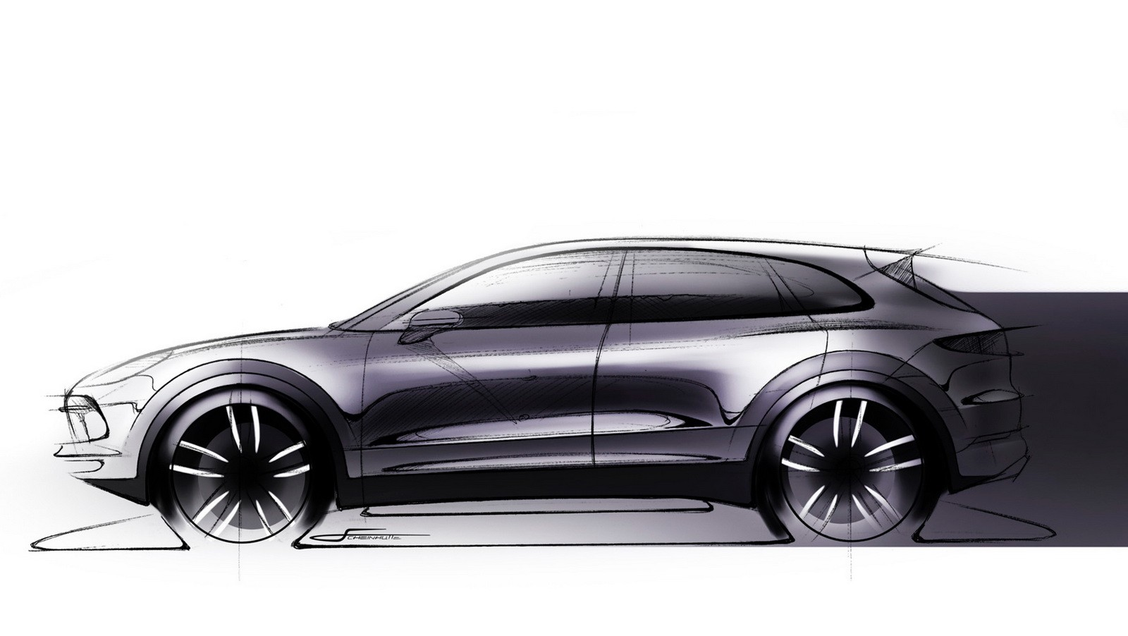 2018 Porsche Cayenne Sketch Reveals Evolutionary Design ...